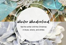 Winter Wonderland / Bring the outdoors inside this holiday season with winter themed packaging and decor. Your Christmas will look just as cool as the weather outside, but without the freezing temperatures.