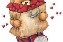 Clipart - Valentin nap (Valentine day)