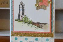 seaside greetings stamp set