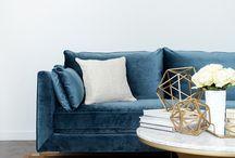 Blå sofa