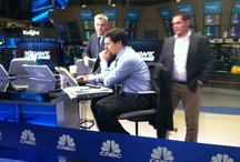 New Home At NYSE / CNBC's Maria Bartiromo was the 1st ever to report from the floor in 1995, while CNBC was the first to produce a show on the floor (after hours Business Center) with a full time set on the balcony in 2006, then the first to have fully wireless cameras.  We are committed to this floor as it is the center of market activity and the icon of American Capitalism. This is the product of a joint effort by CNBC and the NYSE. It debuted on Monday, Feb 27th 2012.