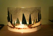 glass forest scene