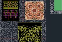 Islamic decoration symbols for autocad / Autocad drawing designs of Islamic ornaments like: geometrical Islamic ornament motifs, historical doors drawings, Arabesque, Muqarnas, brickworks, and Different types of Islamic arches. Download from: architecture4desgn.com