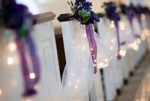 Purple and White Wedding!