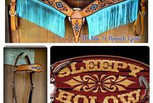 Horse Tack by Sleepy Holow www.sleepyholow.ca / Leather and Leather and Beaded tack, bronc bands, headstalls and halters. Customized for you and your Buddy!  See more at www.sleepyholow.ca