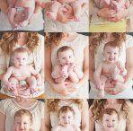 Cómo realizar fotos del crecimiento de un bebé... distintas ideas