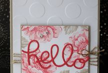 hello you thinlits / Stampin up Stamp Sets quick & Easy cards using stampin up stamps and punches featuring many of your favourite stamp sets and punches, including sprinkles of life, wetlands, petite petals, lovely as a tree, painted petals, sheltering tree, butterfly basics etc.