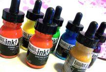acrylic inks / mixed media