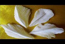 цветы из ткани и фома