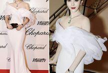 Vestidos brancos do red carpet - Casamentos / Looks brancos e clarinhos dos tapetes vermelhos, que podem servir de inspiração para noivas