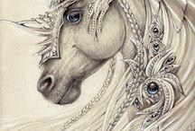 unicorn and pegas