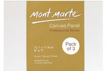 Canvas Boards/Panels / Mont Marte Canvas Panels offer an inexpensive painting support with the look of painting on canvas.  Panels provide a sturdy, non-flexible surface and are great for painting outdoors as they are compact and easily transported. Canvas Panels are also less prone to damage than stretched canvases. Because of their sturdy construction they are also fantastic for collage techniques.