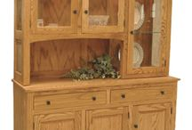 Amish Hutches & Buffets / http://www.amishfurniturefactory.com/amish-anglewood-hutch.html