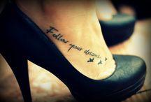 woman foot tatoos