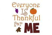 Thanksgiving / Applique/Embroidery Designs