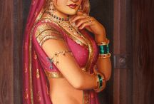 indian traditional paintings / i love to draw....