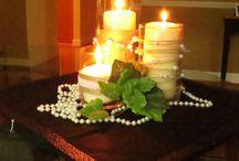 Rustic wedding centerpieces, pearls / Wedding centerpieces, rustic, pearls / by Debbie Woodward