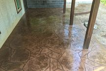 Custom Concrete Patios / Let us design your patio space, call today for a free consultation.