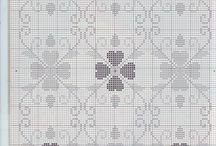 alfombras punto cruz / alfombras