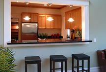 kitchen hatch / ideas for kitchen wall