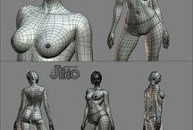 3D modeling: Female Fgure