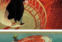 dixit style, ilustration, fairytale, deep thoughts