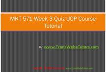 MKT 571 Week 3 Quiz