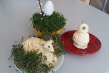 BB8 for Easter / BB8 made from butter for Easter. Idea form my son during preparation of Easter sheep form butter..