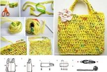 Reutilização : saco de plástico e diversas embalagens