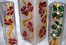 maľované fľaše