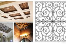 Faux Iron Ceiling Medallions & Treatments / Ceilings are blank canvases, patiently waiting to for you to highlight them with your imagination. Create the ultimate dramatic statement with Faux Iron Ceiling Medallions and Treatments, manufactured by Tableaux Designer Grilles in Austin, TX. These artistic, faux iron grilles for ceilings will not rust or fade and require occasional light cleaning. For more information about these Eco-friendly fine home decor fixtures, call 1(800)281-9963 or email Info@FauxIronDIRECT.com today!