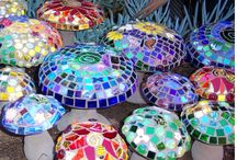 Garden Art / Mosaic Mushrooms