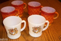 Vintage Fire King Mugs-Esso Tiger and Kimberly