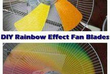 ventilador, arco íris