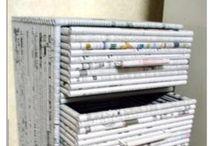 Arte com revista ou jornal
