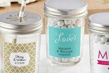 Personalized Glass Jar Favors / Mason Jars, Candy Jars, Hinged glass cars, cookie jars