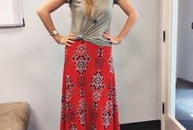 Maxi skirt styling / Maxi skirt styling ideas