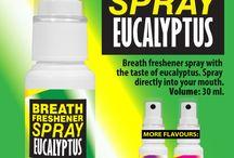 Breath freshener spray / Flavoured breath freshener spray. Spray directly in the mouth for fresh breath and throat relief.