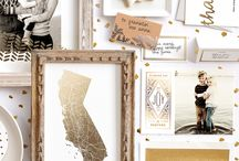 Gold Foil Pressed Designs / Beautiful Gold foil-pressed art prints, cards, invitations, and stationery designs from minted to add a little sparkle to your special events and gift giving.   / by Minted
