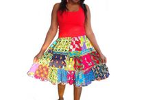African print skirts / Skirts made from African prints