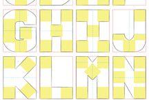 подушки буквы