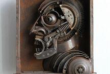 скульптура из металлолома sculpture from scrap metal / Автор: Рустам Исмагилов (Россия, Пермь)