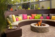 Fire Pits / Spice up your backyard with a stone fire pit.