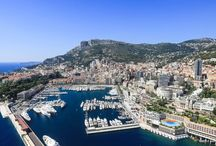 Monaco / The entire coastline of Monaco with photos and video from a helicopter. The true view of seaside destinations, beaches, hotels, ports, marinas, anhorages.