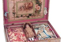 antique German doll with clotes