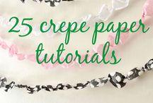 Crepe paper craft