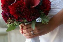 wedding bouquets red/oranges