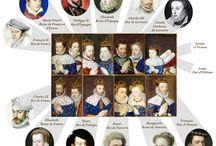 Французские короли и королевы / Королевские династии Франции, королевские семьи и ближайшее окружение.