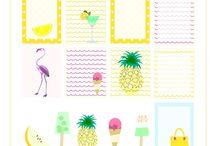 planner stickers summer