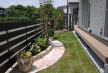 Side garden, Kapea puutarha